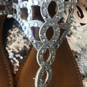 Ziginyc crystal sandals NEVER WORN tags still on.